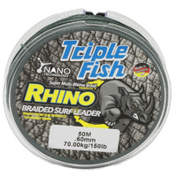 TripleFish rhino braid leader 50m .60mm 150lb green