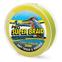 Pro Super Braid 300m 13.6kg/30lb .25mm - fluro yellow
