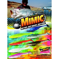 Mimic Paddle Tail 4.9 inch Chartreuse 5 pack