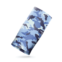 CliMate sports scarf -  BLUE CAMOUFLAGE